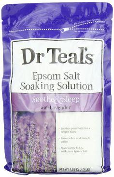 Dr. Teal's Epsom Salt Soaking Solution, Lavender, 48 Ounce Dr. Teal's...