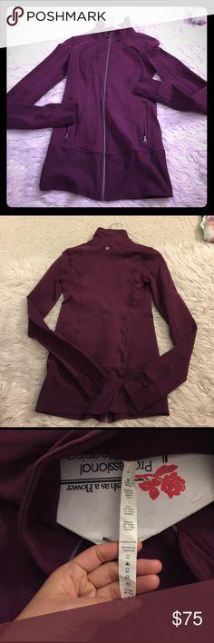 Pre Loved Lululemon Asana Jacket Size 4.  Single zip with zipper pockets and thumb holes lululemon athletica Jackets & Coats