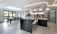 5 bedroom detached house for sale in Ledborough Lane, Beaconsfield, Buckinghamshire, - Rightmove Kitchen Lighting Design, House Extensions, Beautiful Kitchens, Detached House, Property For Sale, Architecture, Table, Furniture, Lighting Ideas