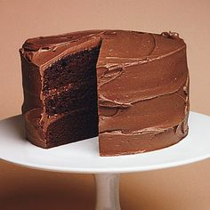 Chocolate Mayonnaise Cake Recipe Desserts with bittersweet chocolate, unsweetened cocoa powder, boiling water, all-purpose flour, baking soda, baking powder, sugar, dark brown sugar, mayonnaise, large eggs, vanilla extract, bittersweet chocolate, unsalted butter, powdered sugar, vanilla extract
