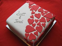 square engagement cake - Google Search