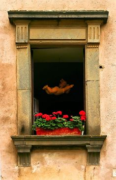 Orvieto, Italy. We saw this through a window. The other rooms were similar