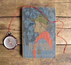 antique c. 1920s-1930s Boy Scout manual // Revised Handbook for Boys 3rd Edition. Via Etsy.