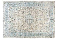 "Antique Tabriz Carpet, 9'3"" x 12'10"""