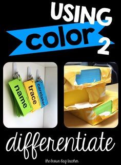 Differentiating Your Classroom with Color - The Brown Bag Teacher