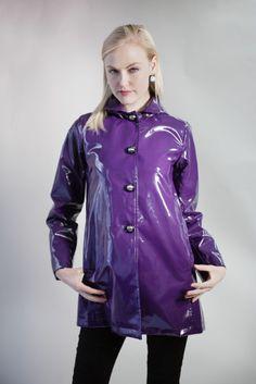 Purple PVC Rain Jacket