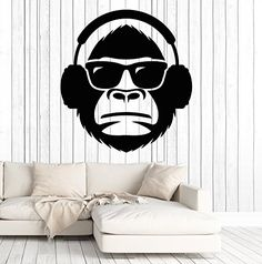 Vinyl Wall Decal Cool Monkey Head In Sunglasses Musical H... https://www.amazon.com/dp/B077L6KN4Q/ref=cm_sw_r_pi_dp_x_Vn0fAb4CWFHRY