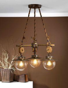 brass nautical chandelier.