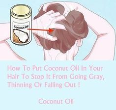 How To Put Coconut Oil In Your Hair To Stop It From Going Gray, Thinning Or Falling Out ! - My Healthy Life Team