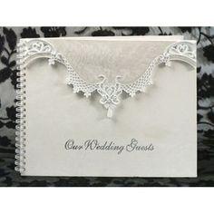 Eleganza collection guest book-Elegant lace