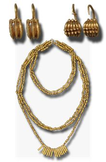 Gold  jewellery  from Troy  -                     The Heinrich Schliemann Collection