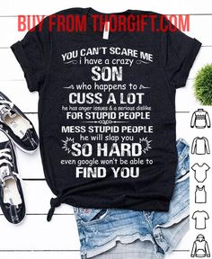 Son Will Slap You So Hard | Mom Gifts | Mom Shirts | Gifts For Mom | Gift Ideas For Mom – Fine Public Anger Issues, Presents For Mom, Mom Gifts, Stupid People, Best Mom, Sons, Public, Gift Ideas, Sayings