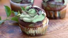 Camouflage cupcakes with camouflage colored frosting -- the perfect thank you for your favorite veteran.