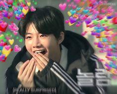 i edited it uwu Yg Entertaiment, Heart Meme, Babe, Idole, I Have A Crush, Kpop Guys, Treasure Boxes, Love Memes, Korean Music