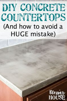 DIY Feather Finish Concrete Countertops and How to Avoid a Huge Mistake   blesserhouse.com - A thorough step-by-step tutorial with useful tips and advice on what not to do.