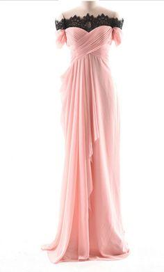 Off-the-shoulder Ruched Chiffon A-line Long Evening Dress 86532b386c02