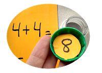 Cálculos y resultados. Juego con tapitas Coasters, Blog, Primary Education, Classroom, Drink Coasters, Blogging, Coaster