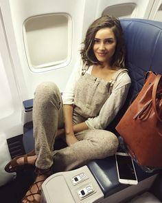 Olivia Culpo- comfy plane ride attire