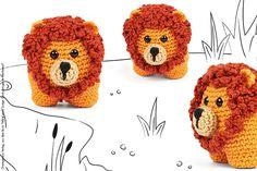55 kostenlose Strick- und Häkelanleitungen Lion Crochet, Crochet Animals, Crochet Hats, Golf Club Covers, Eco Friendly Toys, Handmade Toys, Pet Toys, Free Pattern, Diy And Crafts