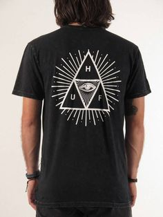 HUF Third Eye Triple Triangle Mineral Wash T-Shirt - Empire Online ...