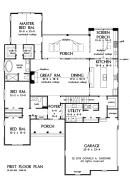 The Brodie House Plan #1340-D - First Floor Plan