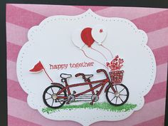 Card 2 I used Stamp Pedal Pusher  SU Markers Real Red