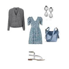 Cute look for a summer day, change the shoes to close toe flats and a perfect work day outfit.