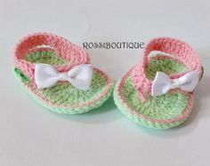Crochet sandalias bebé sandalias de ganchillo bebés sandles