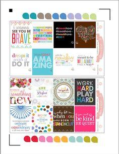 Free Erin Condren planner stickers