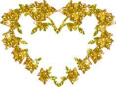 Dla Zakochanych: Gify i obrazki serduszka złote i żółte