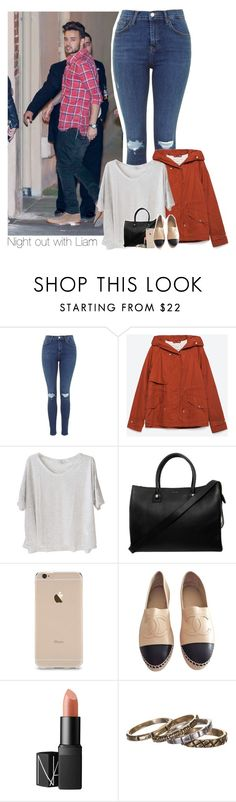 """""""Night out with Liam"""" by diana-megumi ❤ liked on Polyvore featuring moda, Zara, Clu, Paul & Joe, Chanel, NARS Cosmetics y Waxing Poetic"""