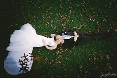love this dreamy wedding photo shot from above