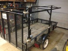 Utility trailer and lumber rack in Finnish stages. Work Trailer, Off Road Trailer, Small Trailer, Trailer Plans, Trailer Build, Super Trailer, Adventure Trailers, Best Trailers, Custom Trailers