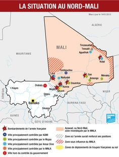 The situation in northern Mali (control by town)