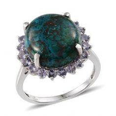 Shadowkite and Tanzanite Sterling Silver ring.