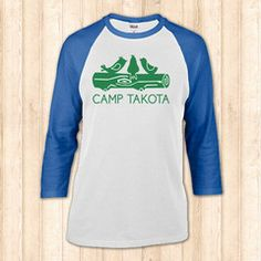 Camp Takota baseball tee