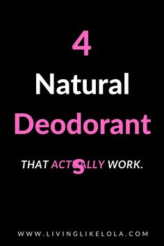 Natural deodorants that DONT leave your armpits smelling bad after 20 minutes. These clean deodorants actually work