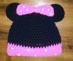 Minnie Mouse inspired hat by LPieCreations on Etsy, $18.00