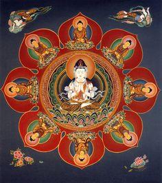 devoted to images of Buddhism. Buddha Buddhism, Tibetan Buddhism, Buddhist Art, Tibetan Mandala, Tibetan Art, Tantra Art, Vajrayana Buddhism, Buddhist Philosophy, Thangka Painting