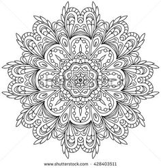 vector mandala. Set of ornamental patterns for background and texture.Vector illustration isolated on white.Islam, Arabic, Indian, ottoman motifs.