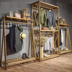 furniture display Wooden Clothing Stores Display Stand For Shop - Boutique Store Fixtures Manufacuring, Retail Shop Fitting Display Furniture Supply Fashion Store Display, Clothing Store Displays, Clothing Stores, Fashion Stores, Shop Displays, Window Displays, Boutique Store Displays, Fashion Displays, Booth Displays