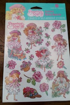 Scratch N Sniff Peppermint Rose Scented Stickers American Greetings TCFC