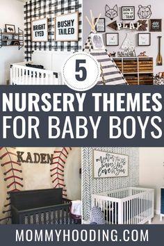 The Top 5 Nursery Themes for Boys - Mommyhooding Woodland Nursery Boy, Nautical Nursery Decor, Baby Boy Nursery Themes, Baby Boy Rooms, Nursery Neutral, Baby Boy Nurseries, Nursery Ideas, Kid Rooms, Nursery Inspiration