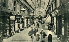 Dorset, Bournemouth, The Arcade - Southampton England, Halcyon Days, Bus Station, Bournemouth, Winchester, Old Houses, Arcade, Childhood, Park