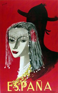 Espana (Spain) #tourism #poster (1950s)