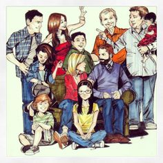 Modern Family: The whole gang, before Fulgencio's time.   image credit: http://shortsweetnsara.tumblr.com/post/54142004132/modernfamily