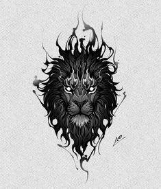 Sun Tattoos, Black Ink Tattoos, Wolf Tattoos, Lion Tattoo, Animal Tattoos, Skull Tattoo Design, Tattoo Design Drawings, Tattoo Designs, Black Tattoo Cover Up