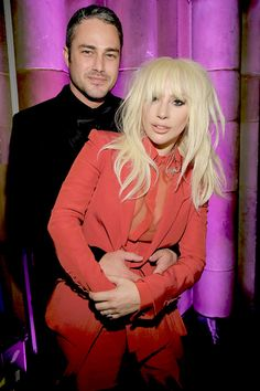 """""""Lady Gaga and Taylor Kinney attend Billboard's Annual Women In Music at Cipriani Street on December 2015 in New York City. Taylor Kinney, 42nd Street, Women In Music, Lady Gaga, Leather Jacket, Chicago Fire, Beauty, Beautiful, Posts"""