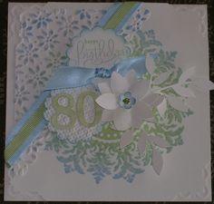 Scrappywonder's 80th birthday card