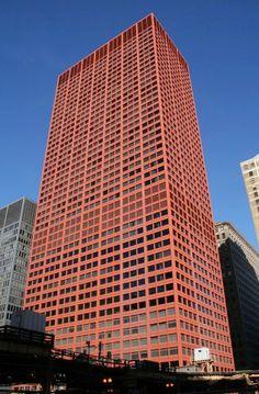 CNA Center's Unusual Red Exterior, Chicago